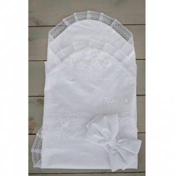 Летний конверт для новорожденного Flavien 1026/01 белый