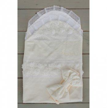 Летний конверт для новорожденного Flavien 1026/02 молочный