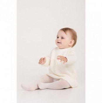 Платье ТМ Lutik рельефная вязка молоко