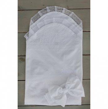 Летний конверт-простынка для новорожденного Flavien 1027/01 белый