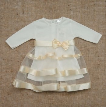 Платье Бетис Маленькая Леди интерлок Молочный 27069755