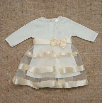 Платье Бетис Маленькая Леди интерлок Молочный 27069760 1,5-3 года