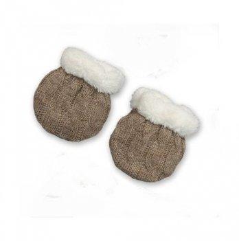 Рукавички для новорожденных Бетис Сніжок-2, кофейные