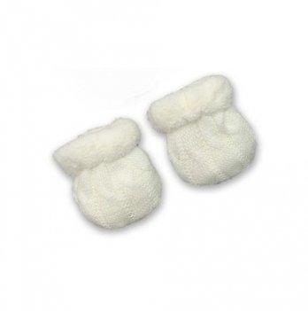 Рукавички для новорожденных Бетис Сніжок-2, молочные