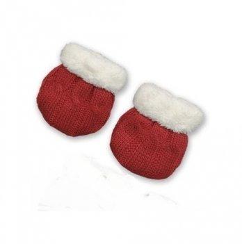 Рукавички для новорожденных Бетис Сніжок-2, красные
