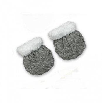 Рукавички для новорожденных Бетис Сніжок-2, серые