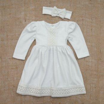 Платье Бетис Аріна-2 с повязкой велюр Белый 27682947