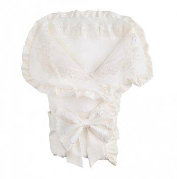 Летний конверт-одеяло для новорожденного Flavien 1038/02 молочный