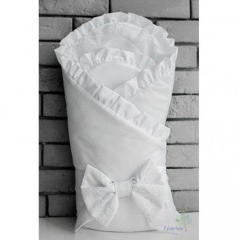Летний конверт-одеяло для новорожденного Flavien 1038/01 белый