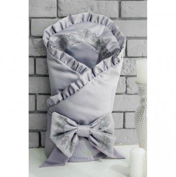 Летний конверт-одеяло для новорожденного Flavien 1038/03 серый