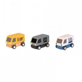 Набор деревянных машинок PlanToys® Фургоны (3 шт.)