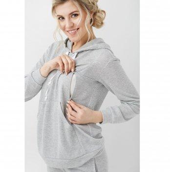Кофта для беременных и кормящих Dianora Серый 2017 0000