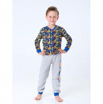 Пижама Smil Чудики Серый 104202 1-1,5 лет