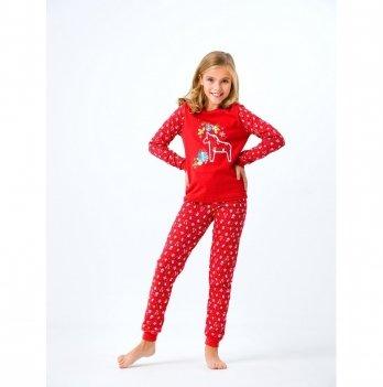 Пижама детская Smil Рождественские истории 2019 Красный 104388 2-6