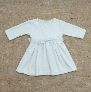 Платье Бетис Бусинка велюр Белый 27076736