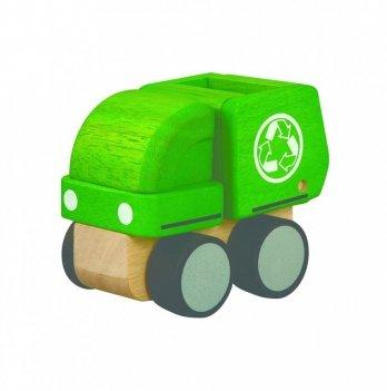 Деревянная машинка PlanToys® Мини-мусоровоз