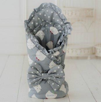 Летний конверт для новорожденного Flavien 1048 светло-серый
