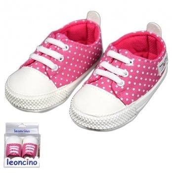 Пинетки для малыша, розовые, возраст от 5 до 12 месяцев, Leoncino