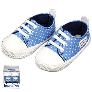 Пинетки для малыша, голубые, возраст от 5 до 12 месяцев, Leoncino