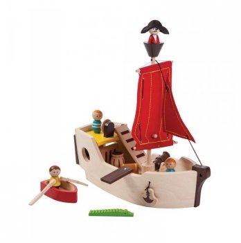 Деревянная игрушка PlanToys® Пиратский корабль