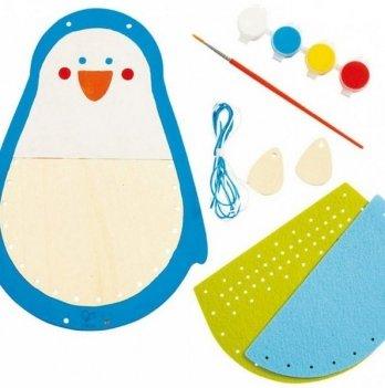 Набор для вышивки и раскрашивания Hape Пингвин