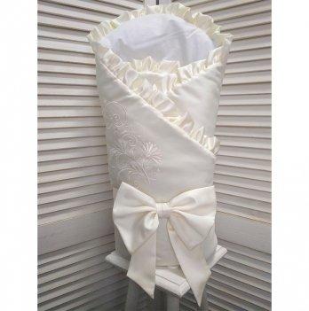 Конверт-одеяло для новорожденного демисезонный Flavien 1055/02 молочный