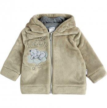 Детская куртка для мальчика Garden baby Светло-серый 6-18 мес Махра 105568-25