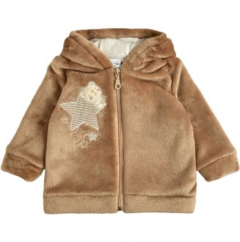 Детская куртка для девочки Garden baby Капучино 6-18 мес Махра 105572-25