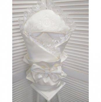 Конверт-одеяло для новорожденного демисезонный Flavien 1056/02 молочный