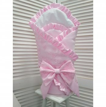 Конверт-одеяло для новорожденного демисезонный Flavien 1059/02 розовый