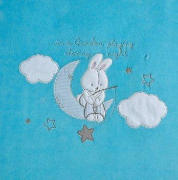 Плед Зима/Деми Garden Baby Ярко-голубой 106083-01/32 105х90 см