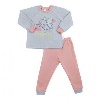 Пижама детская теплая Sweet Mario Серый/Коралловый 3-28-10