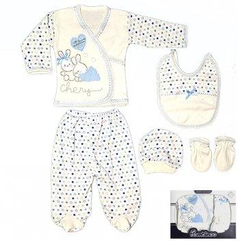 Комплект в коробке для малыша Bombinoo, арт.106 возраст от 0 до 3 месяцев, голубой