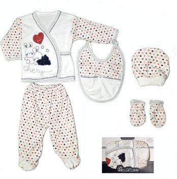 Комплект в коробке для малыша Bombinoo, арт.106 возраст от 0 до 3 месяцев, красный-синий