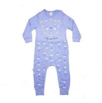 Комбинезон детский интерлок Smil Созвездия Голубой 108107 2-3 года