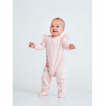 Комбинезон для девочки интерлок Smil Маленькая балерина Розовый 108485 1,5-2 года