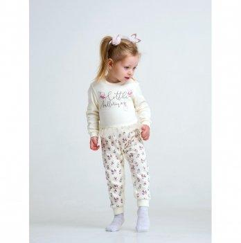 Комбинезон для девочки интерлок Smil Маленькая балерина Молочный 108486 1.5-2 года