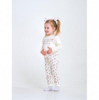 Комбинезон для девочки интерлок Smil Маленькая балерина Молочный 108487 2-3 года