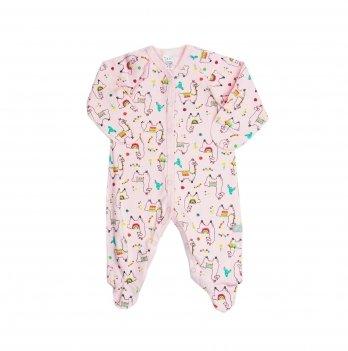 Человечек для девочки Smil Лама мама Розовый Интерлок 108497