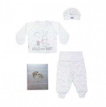 Комплект для новорожденного Smil 3 предмета Белый 109907