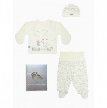 Комплект для новорожденного Smil 3 предмета Кремовый 109907