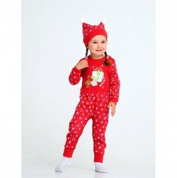 Новогодний костюм для девочки (комбинезон и шапочка) Smil Рождественские истории 2019 109974 2 пр. 6-18 мес