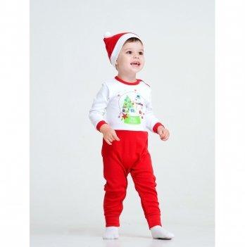 Новогодний костюм для мальчика (комбинезон и шапочка) Smil Рождественские истории 2019 109974 2 пр. 6-18 мес