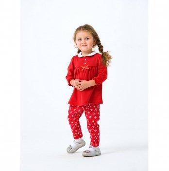 Новогодний костюм для девочки (платье и штаны) Smil Рождественские истории 2019 109976 2 пр. 6-18 мес