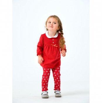 Новогодний костюм для девочки (платье и штаны) Smil Рождественские истории 2019 109977 2 пр. 2-3 года