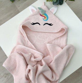 Полотенце-уголок Маленькая Соня Единорог Розовый 9200150 80х100 см