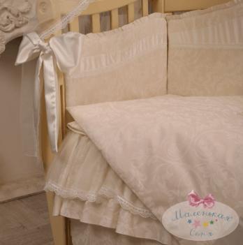 Защита для кроватки в комплект Baby chic кофейный Маленькая Соня
