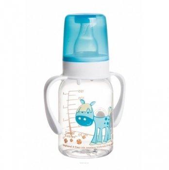 Бутылочка тритановая Canpol babies Цветная ферма, с ручкой, 120 мл