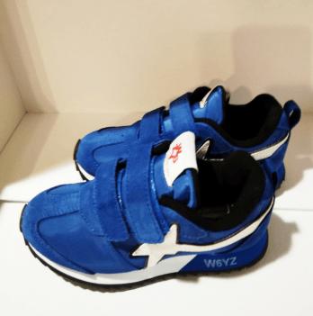 Кроссовки для мальчика Naturino, замша, синие