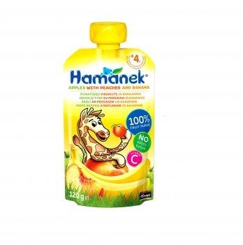 Пюре фруктовое Hame Hamanek яблоко с персиком и бананом 120 г